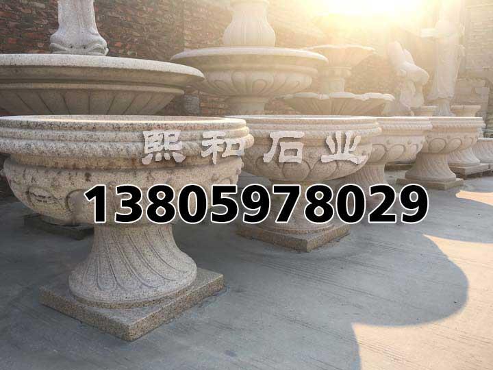 景观石材移动花钵的好处 - 惠安石雕工艺文化传承者