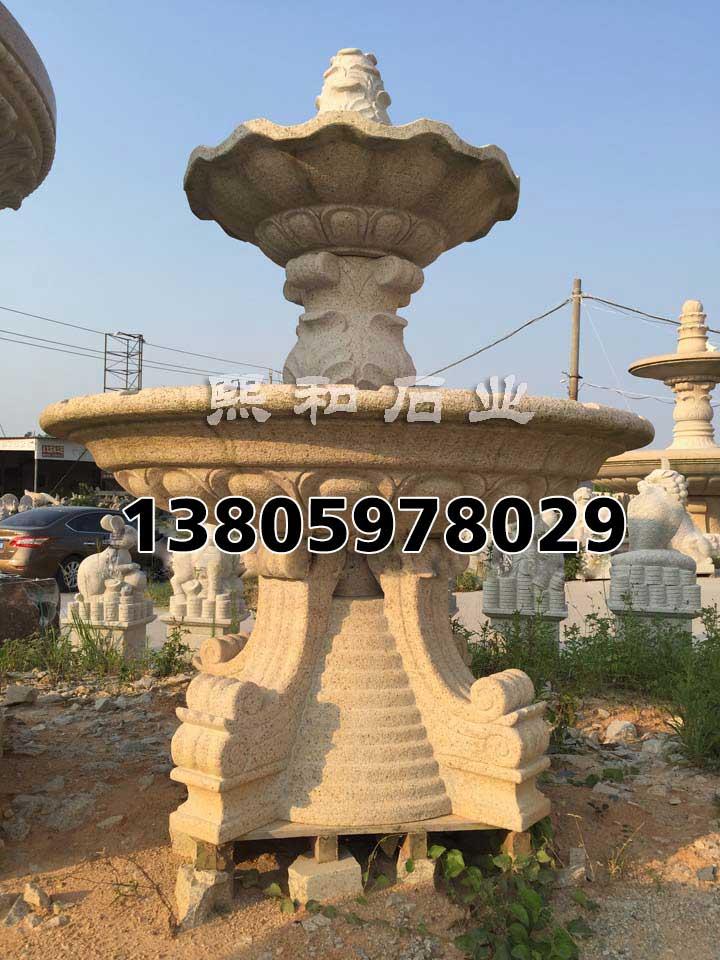 石头流水喷泉摆件,欧式水景雕塑喷泉